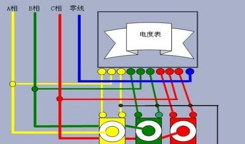 三相四线有功电度表{机械式},就没有接入零线,也没有零线,就直接从