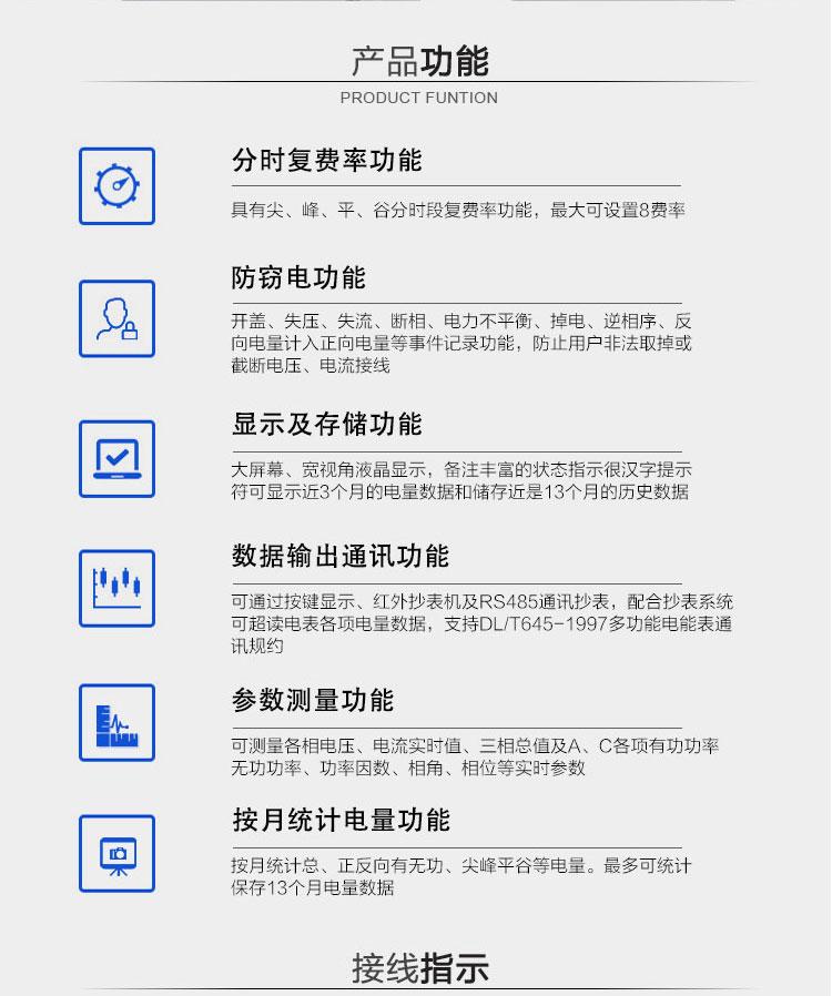 威胜DTSD341-MC3电表产品功能