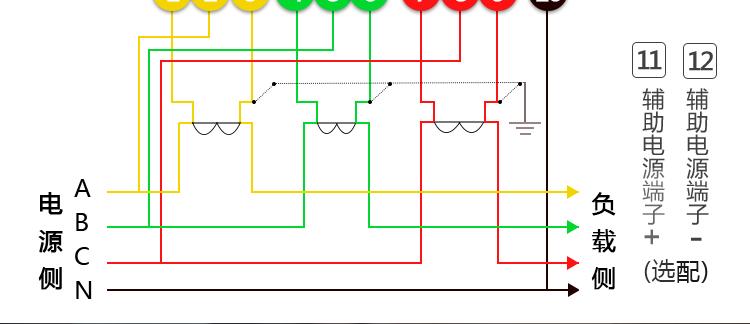 20(80) 电压规格:3x220v/380v 主要功能:有功,功率因素,有功功率,无功