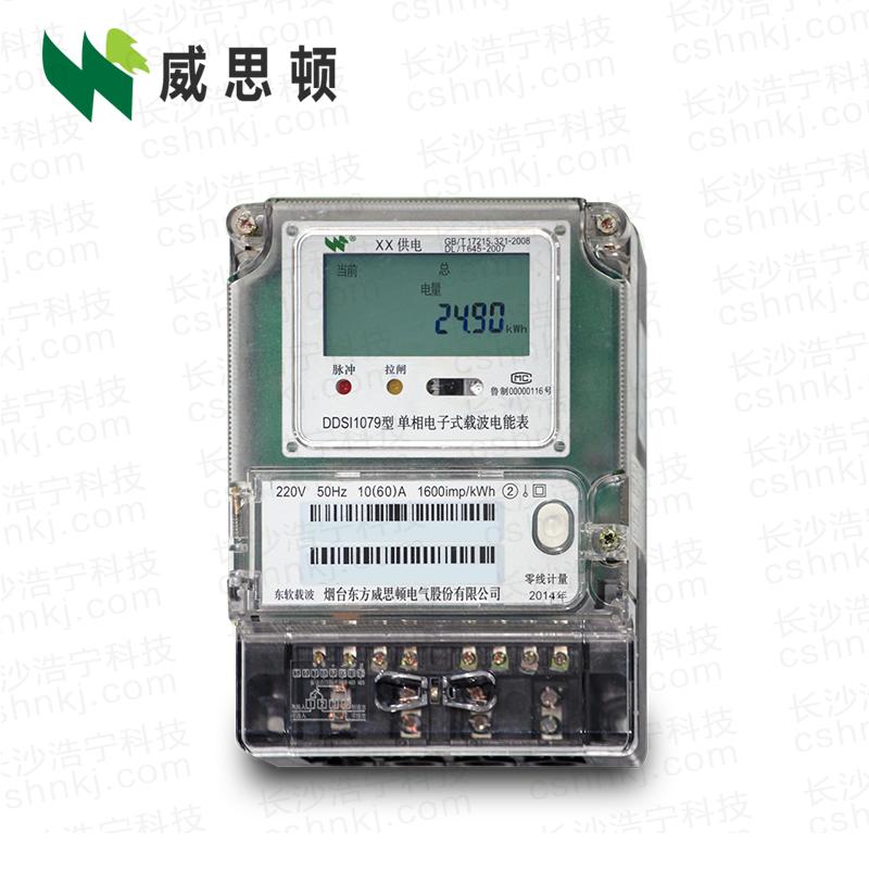烟台威思顿DDSI1079 单相电子式载波电能表
